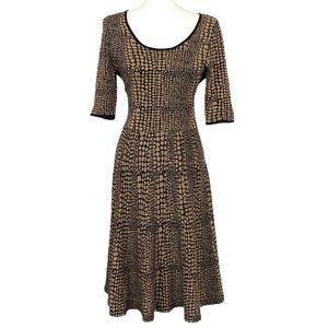 Luxe by Carmen Marc Valvo Reptile Print Dress M